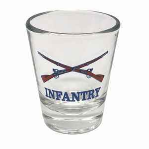 Infantry Shot Glass USA  Made In The USA